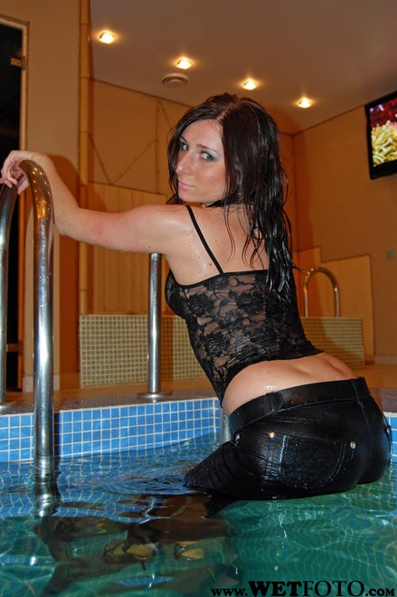#16 - Wetlook by Hot Girl in Top, Patent Leather Leggings and High Heels