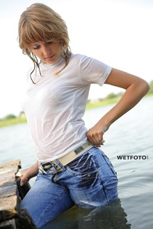 #280 - Fully Clothed Blonde Girl Get Soaking Wet on Lake