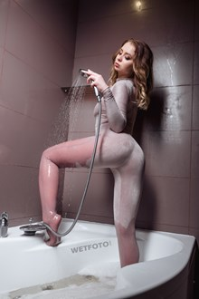 #492 - Wetlook by Hot Girl in Nude Bodysuit